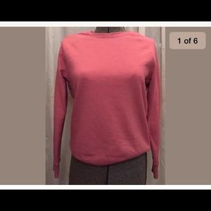 9cb1d4e5 Time and Tru Tops - 🔵 Women's Sweatshirt Salmon Crewneck Long Sleeve